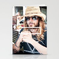 jared leto Stationery Cards featuring Jared Leto by ScarTissue