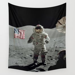 Apollo 17 - Last Man On The Moon Wall Tapestry