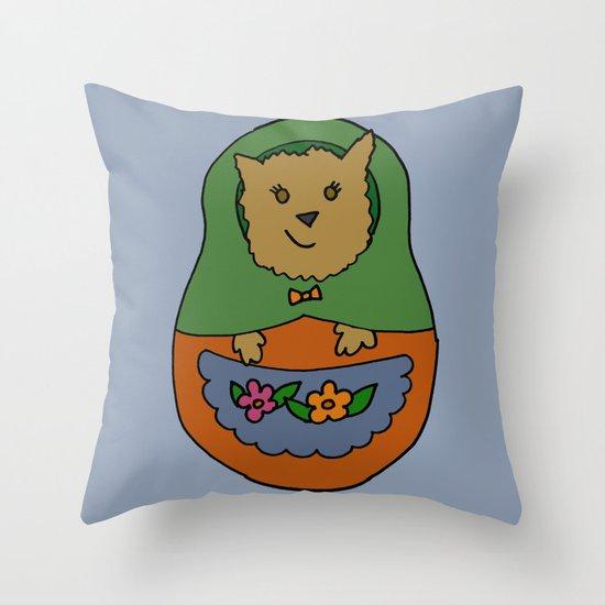 Piptroyshka Throw Pillow