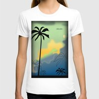 palm trees T-shirts featuring Palm trees by Winking Lion
