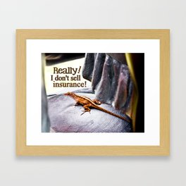 Doesn't Sell Insurance Framed Art Print