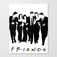 friends tv Canvas Prints featuring Friends by FjwDesigns