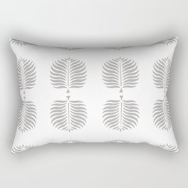 TROPICAL PALMS . GRAY + WHITE Rectangular Pillow