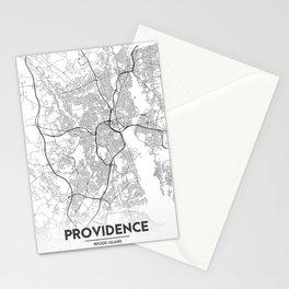 Minimal City Maps - Map Of Providence, Rhode Island, United States Stationery Cards
