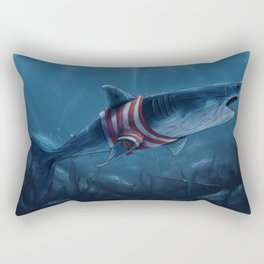 Shark in a Shirt Rectangular Pillow