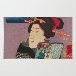 Utagawa Kunisada - Landscapes And Beauties Feeling Like Reading The Next Volume. Rug