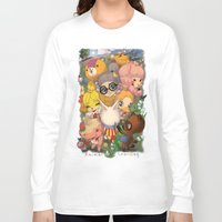 animal crossing Long Sleeve T-shirts featuring Animal Crossing Newest Leaf by Haunted Elevator