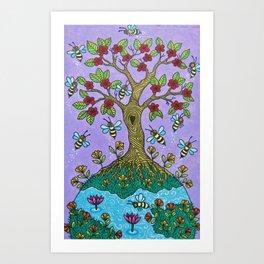 The Bee Tree Art Print