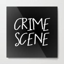 Crime Scene - Black White Metal Print