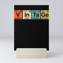 Vintage Periodic Table Elements Spelling Mini Art Print