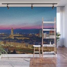 Twilight - Arno River, Florence Italy Landscape by Jeanpaul Ferro Wall Mural