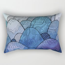 The Blue Sky Rocks Rectangular Pillow