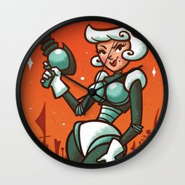 Retro Robo Girl Wall Clock