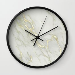 Marble Love Gold Metallic Wall Clock