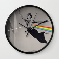 pink floyd Wall Clocks featuring Floyd by Blaz Rojs