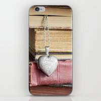college iPhone & iPod Skins featuring College Romance by Colleen Farrell