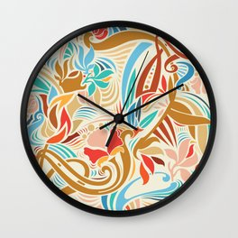 Abstract Florals Wall Clock