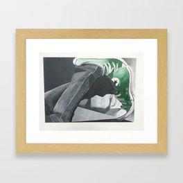 green Allstars Framed Art Print