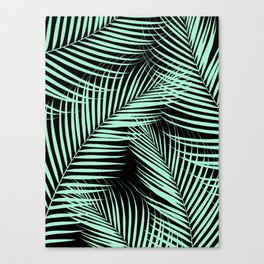 Palm Leaves - Mint Cali Vibes #1 #tropical #decor #art #society6 Canvas Print