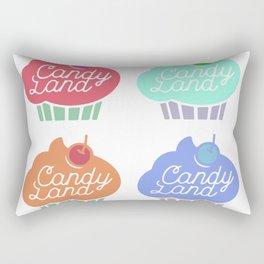 Vintage Cupcake Pattern Rectangular Pillow