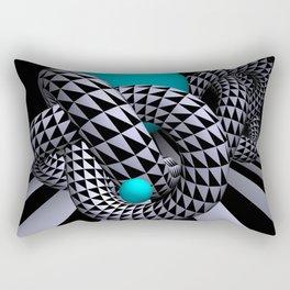 go turquoise -11- Rectangular Pillow