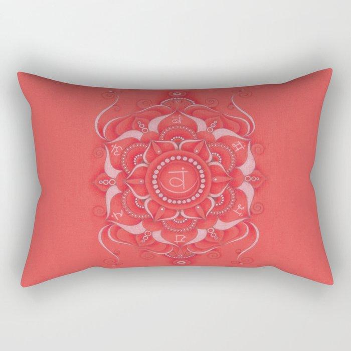 Mandala Swadhisthana Chakra Rectangular Pillow