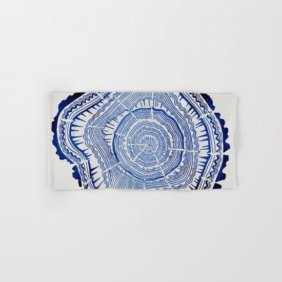 Growth Rings – 65 Years – Navy Hand & Bath Towel