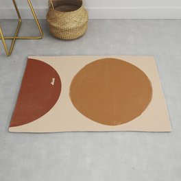 Burnt Orange Sun, New Boho Rug