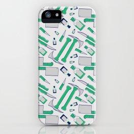 Murder pattern Green iPhone Case