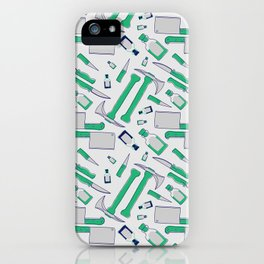 Murder pattern Green iPhone Case