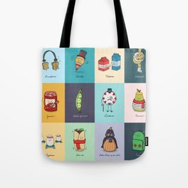 Punny Doodle Collection Tote Bag
