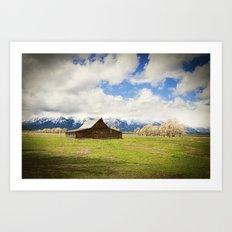 Grand Teton Barn Art Print