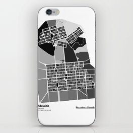 ADELAIDE BLACK & WHITE MAP iPhone Skin