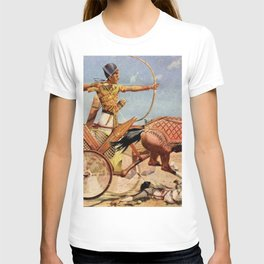 """Classical Masterpiece """"Egyptian King Tut on Chariot"""" by Herbert Herget T-shirt"""