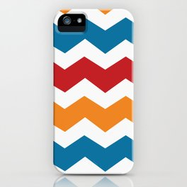 Blue Red Orange Chevron iPhone Case