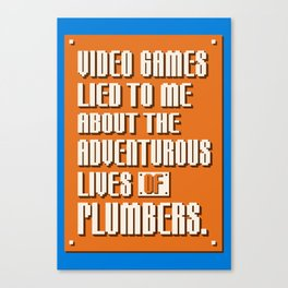 Video Games Lied To Me Canvas Print