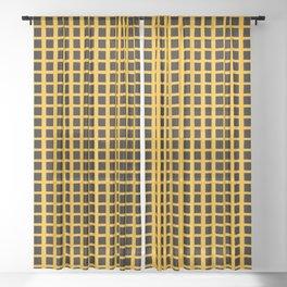 Black Honey Grid Sheer Curtain