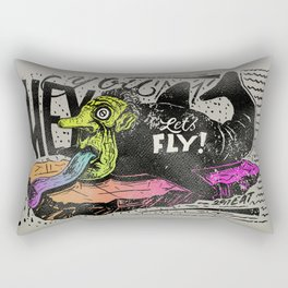 Hey you, let's fly! - Said the whale Rectangular Pillow