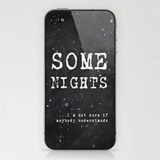 SOME NIGHTS iPhone & iPod Skin