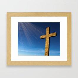 Heaven's Cross Framed Art Print