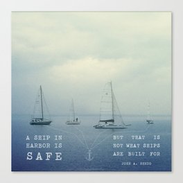 Ships Safe at Harbour Canvas Print