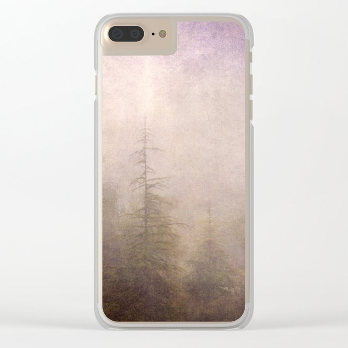 """Mistery forest. Foggy"". Retro serie Clear iPhone Case"