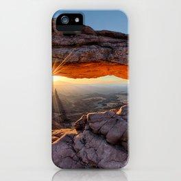 Mesa Arch Sunburst  by Lena Owens iPhone Case