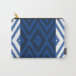 Rattan in Blue Carry-All Pouch