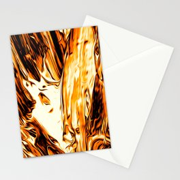 Abstract Gold Fire Paint II Stationery Cards