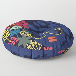 Afro Diva : Sophisticated Lady Blue Floor Pillow