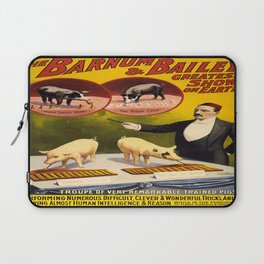 Vintage poster - Trained pigs Laptop Sleeve