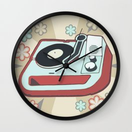 Retro Vinyl Wall Clock