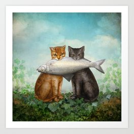 Enjoy Your Dinner Art Print
