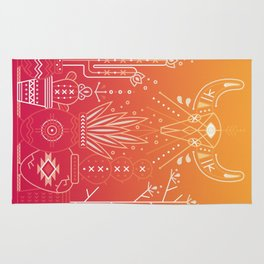 Santa Fe Garden – Orange Sunset Rug